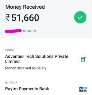 Payment Proof Rs.51,000