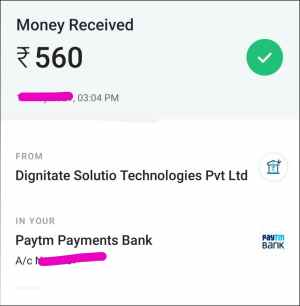 Payment Proof 1 New money earning app in India