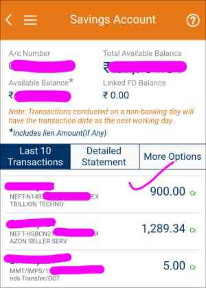 Latest Payment Proof in bank