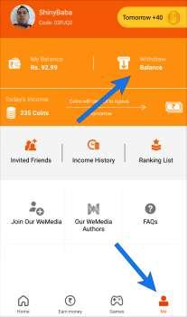 RozDhan App Invite / Refer Code
