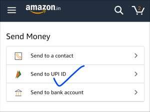 Send to UPI ID