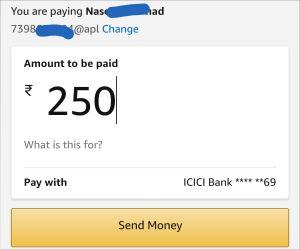 Amazon Pay UPI Send Money Offer