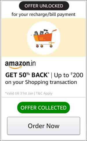 Amazon Recharge bill payment offer