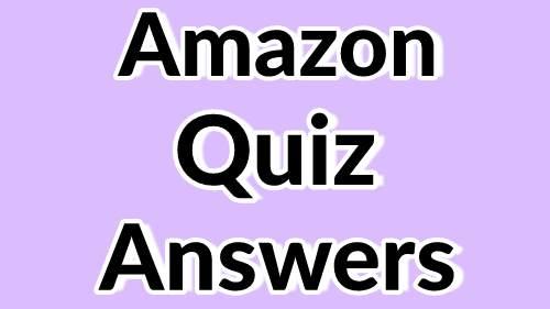 Amazon Quiz Contest answers today