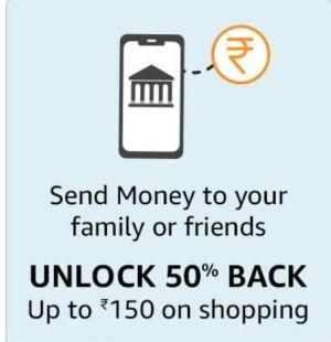 get 50% upto Rs.150 Amazon Pay Balance Cashback 1