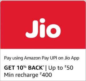 Amazon Jio Recharge Cashback Offer