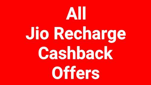 Jio Recharge Offers Today – Upto Rs.180 Cashback