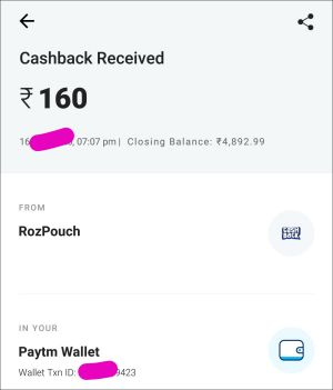 Rozdhan app payment proof 3