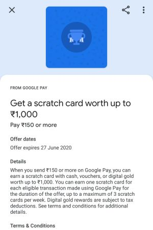 Google pay send money offer