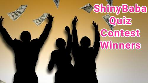 ShinyBaba Quiz Contest Winners