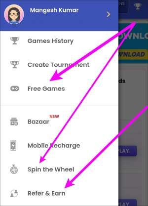 Gamezop Play Game, Refer Earn Money