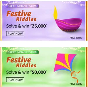 Amazon Great Indian Festival Festive Riddles Quiz Answers