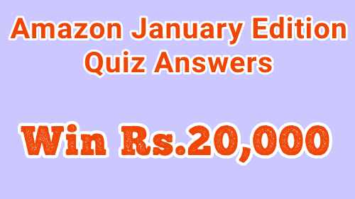 Amazon January Edition Quiz Answers
