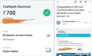 Panel Station Survey Payment Proof
