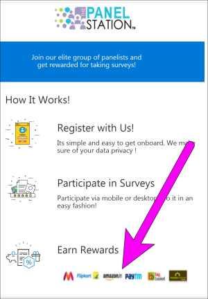Panel Station Survey App/Website Signup