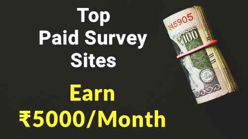 Top 5 Best Online highest paid survey sites/Apps to earn money in India
